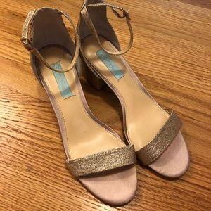Betsey Johnson Glitter Heel
